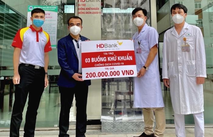 HDBank tặng 3 buồng khử khuẩn hỗ trợ Hải Dương phòng chống dịch Covid - 19