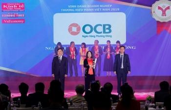 Ngân hàng OCB được vinh danh tại giải thưởng Thương hiệu mạnh Việt Nam 2018