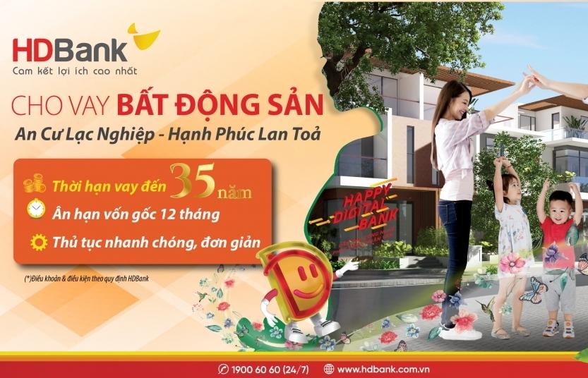HDBank cho vay mua nhà với thời hạn lên đến 35 năm