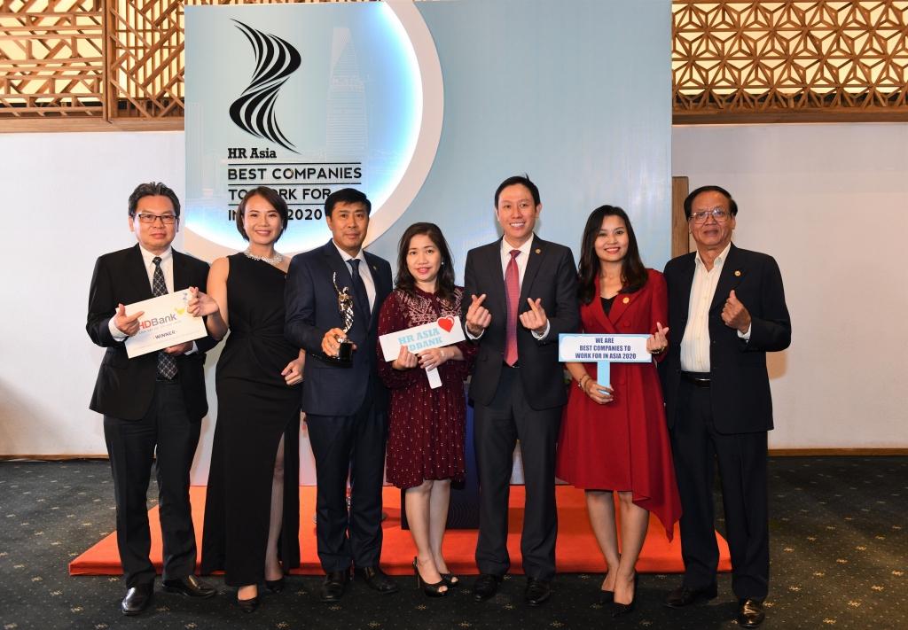 HDBank tiếp tục vinh danh là nơi làm việc tốt nhất châu Á