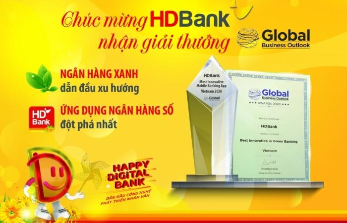 Ngân hàng số, ngân hàng xanh HDBank tiếp tục nhận giải thưởng quốc tế