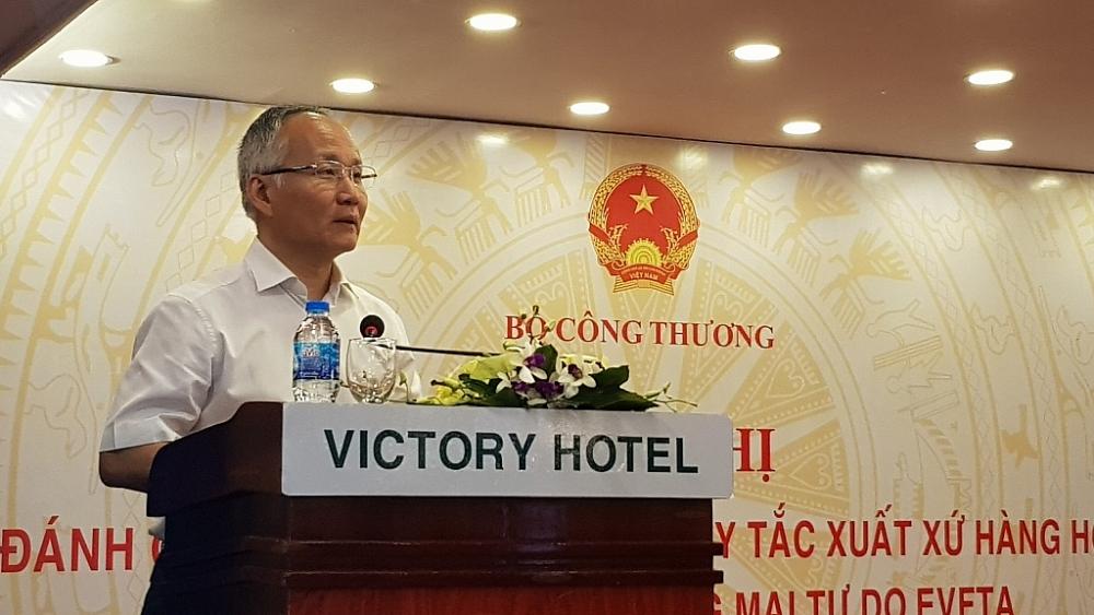 Thứ trưởng Bộ Công Thương Trần Quốc Khánh phát biểu tại hội nghị