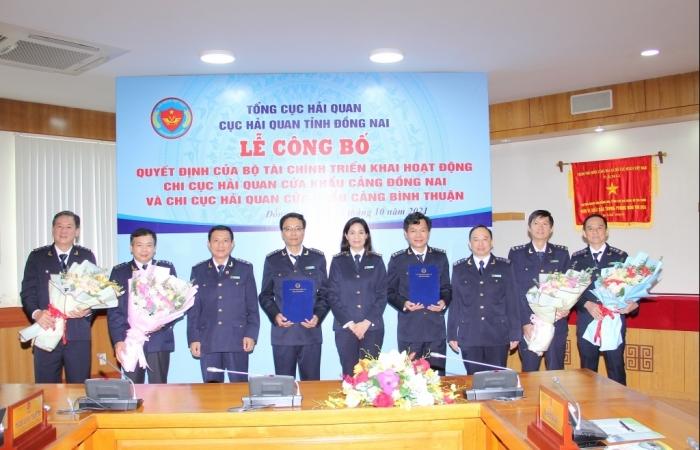 Hai chi cục Hải quan cửa khẩu cảng đầu tiên tại Đồng Nai và Bình Thuận chính thức hoạt động