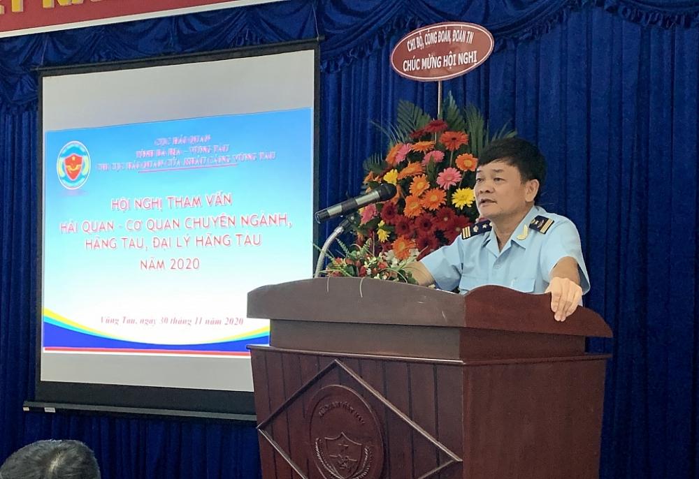Phó cục trưởng Bùi Sỹ Đức phát biểu tại hội nghị. Ảnh: N.H