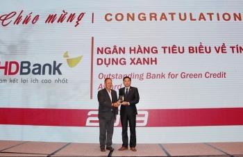 HDBank được giải thưởng về tín dụng xanh