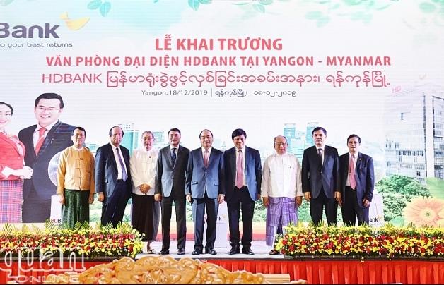 HDBank khai trương văn phòng đại diện tại Myanmar và hợp tác với Viettel Global