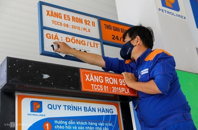 Giá toàn bộ các mặt hàng xăng dầu giảm nhẹ