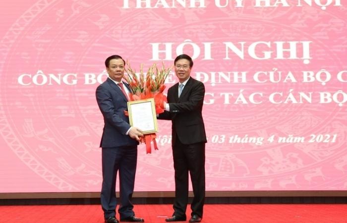 Bộ trưởng Bộ Tài chính Đinh Tiến Dũng làm Bí thư Thành ủy Hà Nội