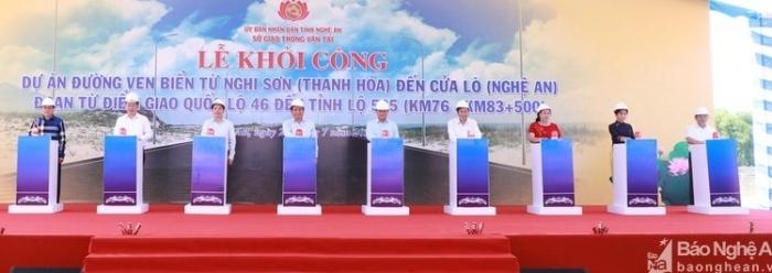 Khởi công Dự án đường ven biển từ Nghi Sơn - Thanh Hóa đến Cửa Lò - Nghệ An