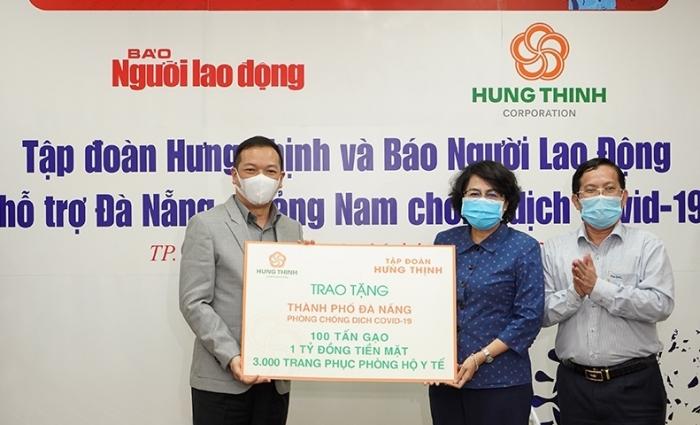 Tập đoàn Hưng Thịnh tiếp tục ủng hộ 20 tỷ đồng phòng chống dịch Covid-19