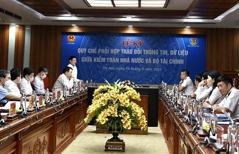 Bộ Tài chính và Kiểm toán nhà nước ký kết Quy chế phối hợp trao đổi thông tin, dữ liệu