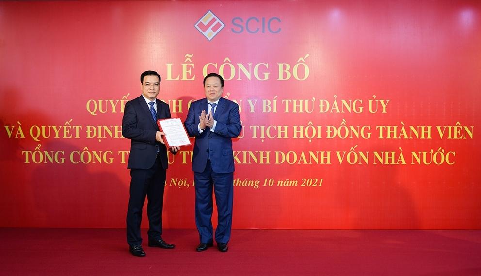 Trao quyết định bổ nhiệm ông Nguyễn Chí Thành làm Chủ tịch HĐTV SCIC