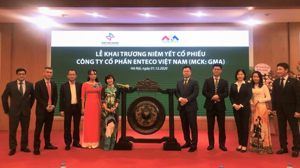 6 triệu cố phiếu CTCP Enteco Việt Nam chính thức lên sàn HNX