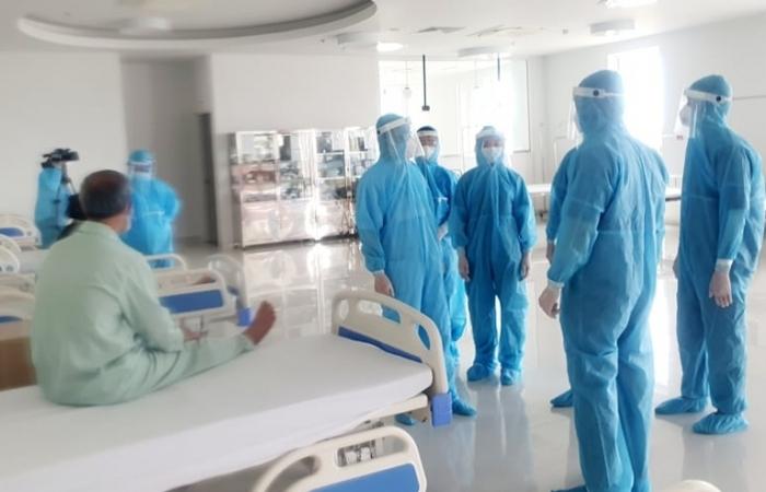 Bệnh viện dã chiến ở Hà Nam vừa tiếp nhận 158 trường hợp F1