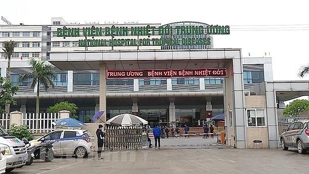 Bệnh viện Bệnh Nhiệt đới Trung ương phát hiện 14 ca nhiễm Covid-19. Ảnh internet.