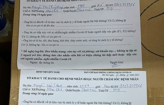 Bệnh viện Hữu nghị: Ông Nguyễn Văn Thanh khai báo y tế không trung thực