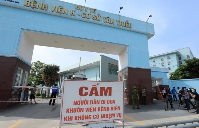 Từ ngày 24/5, Bệnh viện K cơ sở Phan Chu Trinh và Tam Hiệp hoạt động trở lại
