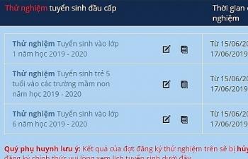 Hà Nội thử nghiệm đăng ký tuyển sinh đầu cấp trực tuyến đến ngày 17/6