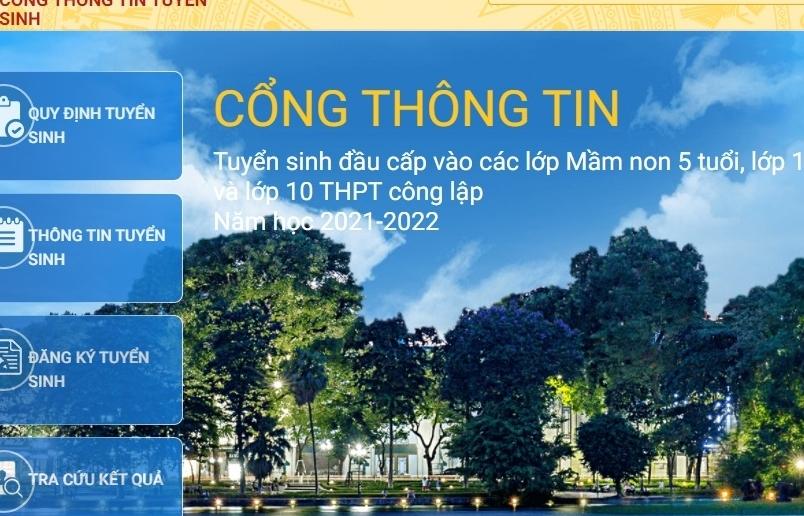 Hà Nội thử nghiệm đăng ký tuyển sinh trực tuyến đầu cấp