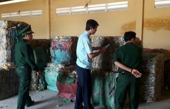 Tịch thu gần 10 tấn phế liệu có nguồn gốc nhập lậu