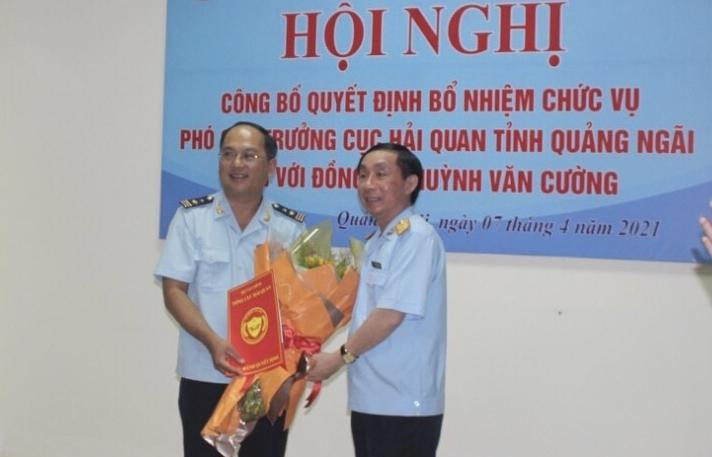 Ông Huỳnh Văn Cường được bổ nhiệm làm Phó Cục trưởng Hải quan Quảng Ngãi