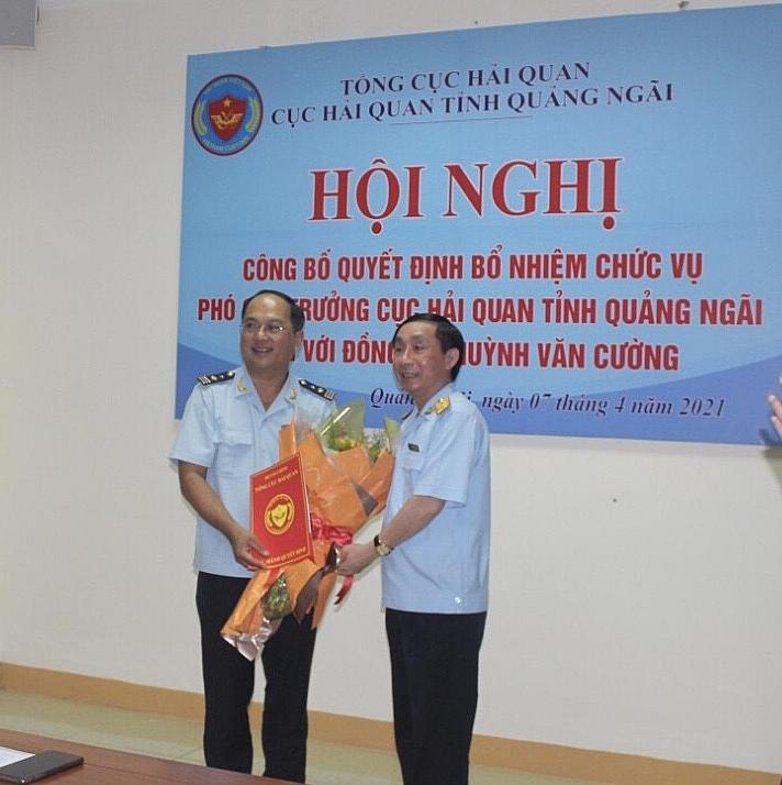 Bổ nhiệm tân Phó Cục trưởng Hải quan Quảng Ngãi