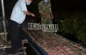 Hải quan An Giang bắt xuồng máy chở đầy lợn nhập lậu