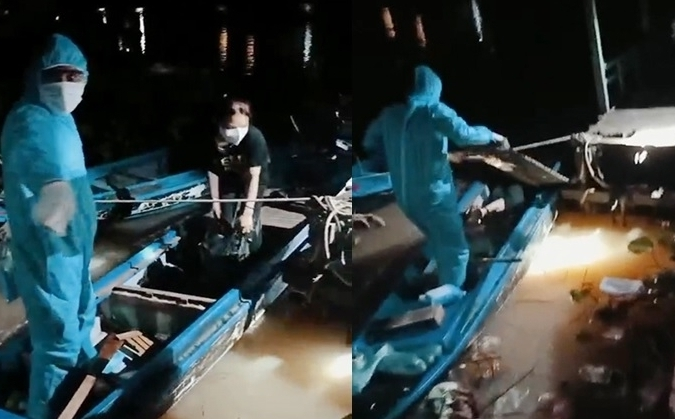 Nằm dưới xuồng máy để xuất cảnh trái phép