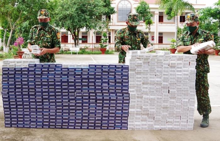 Vác 6.000 bao thuốc lá lậu từ Campuchia về Việt Nam