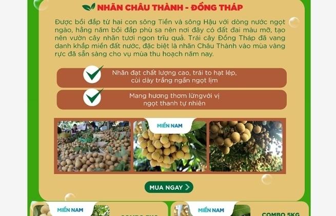 Hệ thống nhà sách TPHCM kết nối phân phối nông sản cho Đồng Tháp