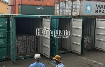 Khám xét, bắt giữ vụ xuất lậu 5 container nhôm phế liệu