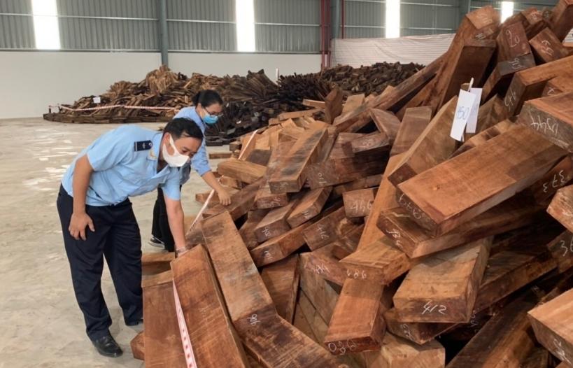 Hoàn tất khám xét 60 container gỗ quý