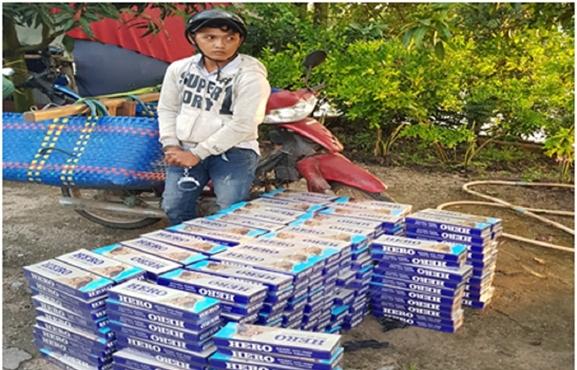 Vận chuyển gần 8.000 bao thuốc lá lậu, 3 đối tượng bị khởi tố