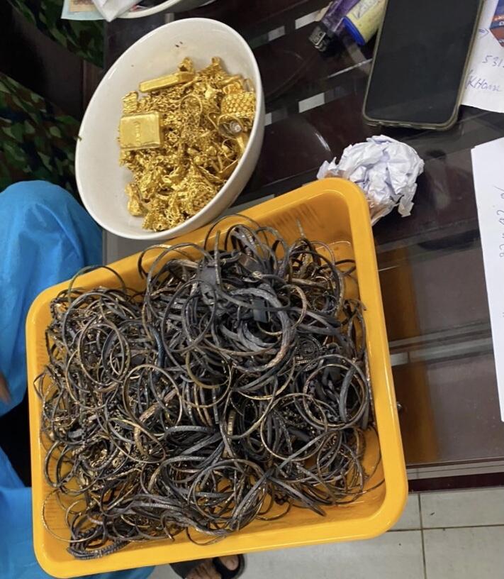 Kết quả giám định 3 kg vàng nhập khẩu trái phép vào Việt Nam