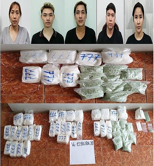 Đề nghị truy tố 5 đối tượng mua bán hàng chục kg ma túy từ Campuchia về Việt Nam