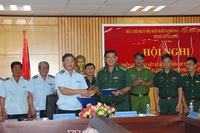 Hải quan và Bộ đội Biên phòng An Giang phối hợp giữ vững an ninh biên giới