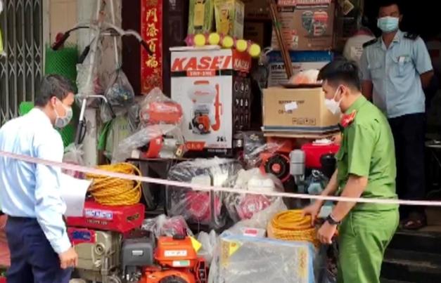 Phát hiện hàng chục máy nông nghiệp nghi vấn nhập lậu