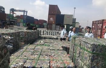 Ảnh: Bắt gần 100 tấn nhôm phế liệu xuất lậu