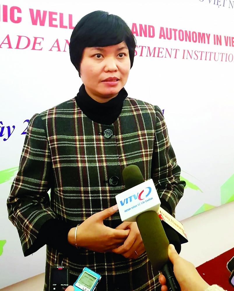 Bà Nguyễn Thị Thu Trang, Giám đốc Trung tâm WTO và Hội nhập - Phòng Thương mại và Công nghiệp Việt Nam (VCCI).