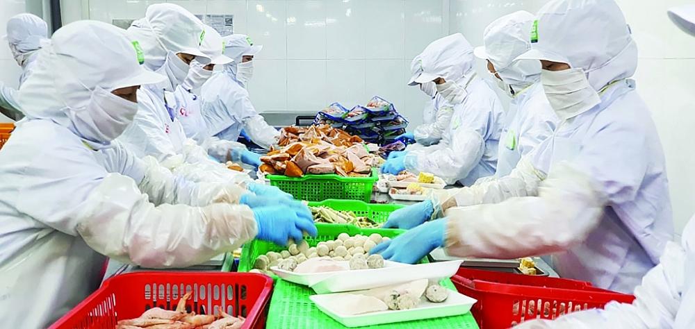 Hoạt động sản xuất tại Công ty CP Sài Gòn Food.Ảnh: ST