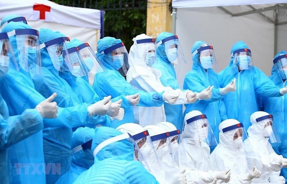 Đội ngũ y, bác sĩ trên tuyến đầu phòng, chống dịch bệnh sẽ được ưu tiên tiêm vắc xin Covid-19.Ảnh: ST