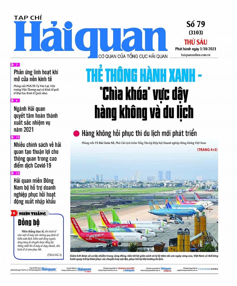 Những tin, bài hấp dẫn trên Tạp chí Hải quan số 79 phát hành ngày 1/10/2021