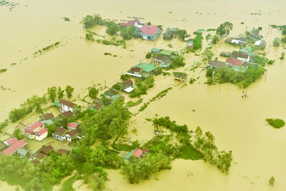 Hình ảnh ngập lụt ở Thừa Thiên Huế trong những ngày qua.