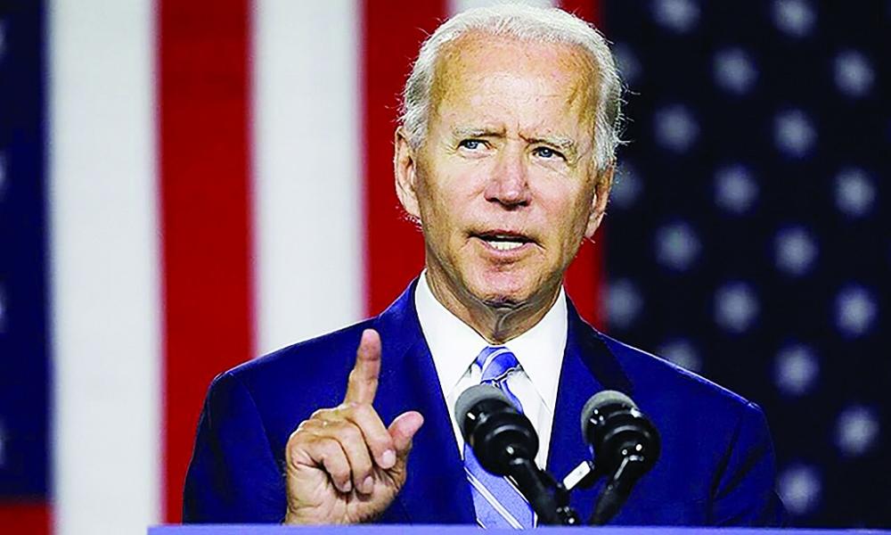 Ông Biden đọc diễn văn tuyên bố chiến thắng.