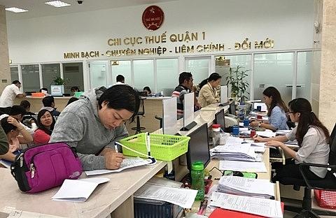 Hoạt động nghiệp vụ tại Chi cục Thuế quận 1, Cục Thuế TPHCM. Ảnh:  ST