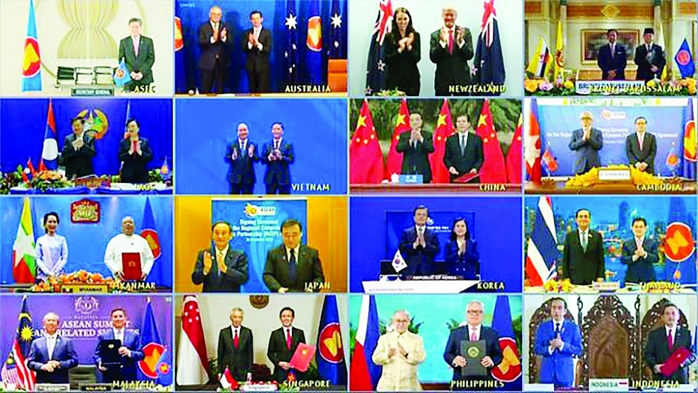 15 nước khu vực châu Á-Thái Bình Dương ký RCEP.