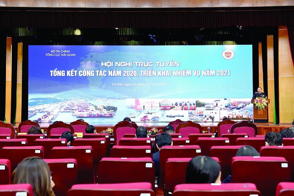 Tổng cục trưởng Tổng cục Hải quan Nguyễn Văn Cẩn kết luận hội nghị.Ảnh: T.BÌNH