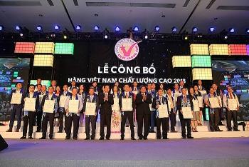 542 doanh nghiệp đạt nhãn hiệu chứng nhận doanh nghiệp hàng Việt Nam chất lượng cao năm 2019