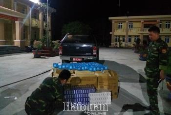 Dùng xe ba gác chở 33.000 chiếc khẩu trang y tế đi xuất lậu tại cửa khẩu Bình Hiệp