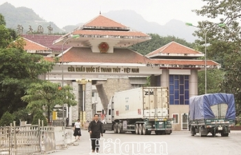 Một ngày, thông quan hơn 500 tấn nông sản qua cửa khẩu Thanh Thủy (Hà Giang)